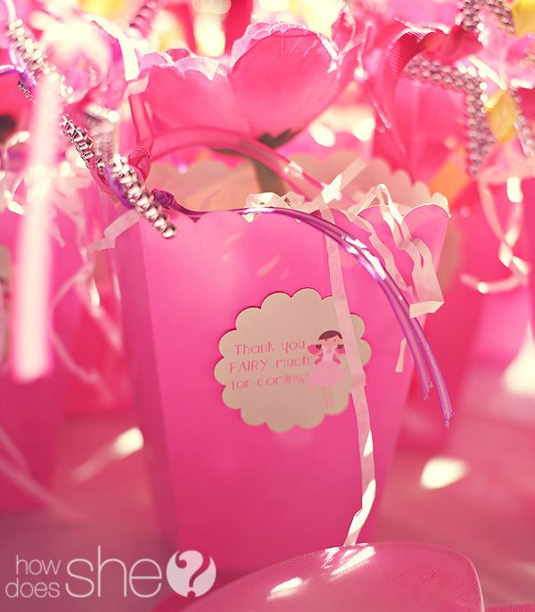 """Thank you """"fairy"""" much!: Favor Bags, Party'S, Fairies, Parties, Fairy Party Favors, Party Favors Love, Party Ideas, Birthday Party"""