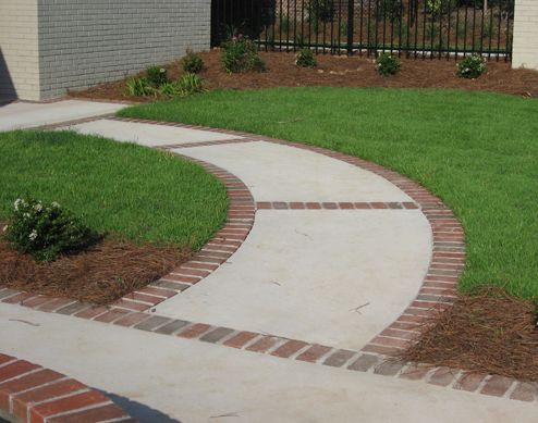 find this pin and more on outside living - Sidewalk Design Ideas