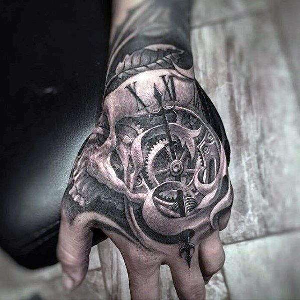 50 Unbelievable Tattoos For Men Inconceivable Ink Design Ideas Hand Tattoos For Guys Skull Hand Tattoo Tattoos For Guys