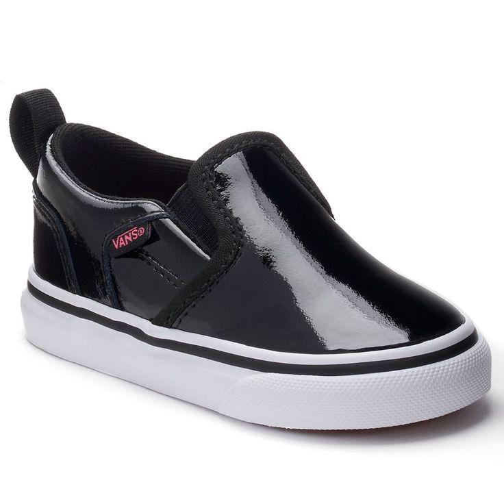 Vans Asher Animal Skate Shoes - Toddler Girls, Size: 10 T, Black