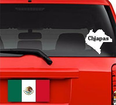 Spanish. Car Decals. Laptop Decal... Mapa Chiapas, México. Map