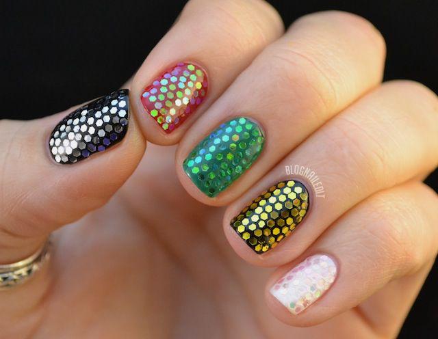 Born Pretty Store Hexagon Glitter Review Christmas Mani