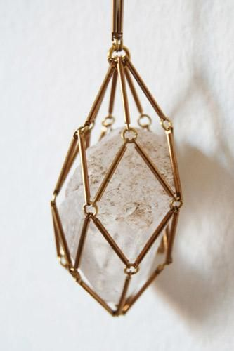 INSPIRATION- Crystal cage necklace