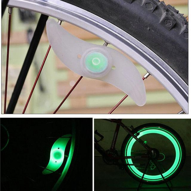 1PC Accessories Velo Mountain Bike Bicycle Cycling Supplier Spoke Wire Tire Tyre Hot Wheel LED Bright Lamp Bike Light Cateye