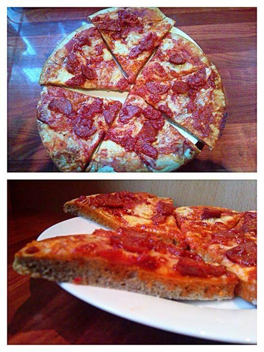 Paleo pizza (nyílgyökérlisztből és gesztenyelisztből) ~ Éhezésmentes Karcsúság Szafival