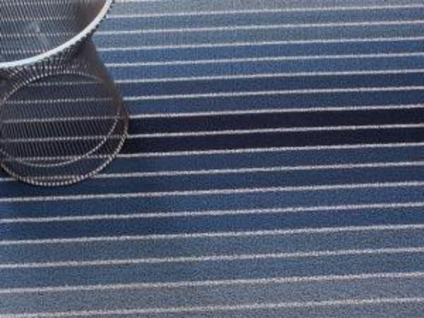 Block Stripe Indoor/Outdoor Mat | Denim