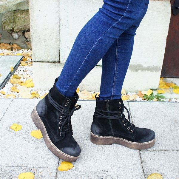 casual fashion black boots