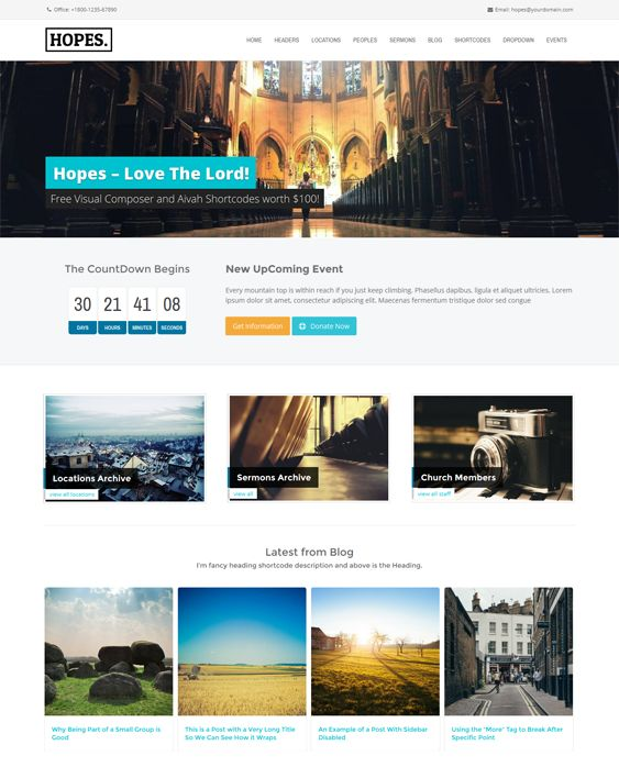 7 best 7 more of the best wordpress themes for churches for Builders unlimited