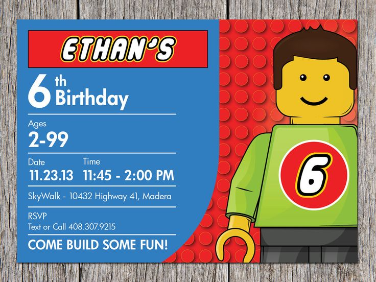 Free Printable Lego Birthday Invitation Ideas For Boys