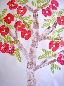 Apple tree print tutorial-Gotta try this