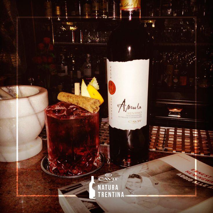 Federico Cremasco dell'Hamingway di Polcenigo ha rivisitato il più classico dei cocktail all'italiana col nostro Amula Moscato rosa Trentino Doc. Un'idea da riproporre, anche stasera.  http://www.cavitnaturatrentina.it/cremasco_hemingway