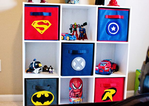 decoración habitacion superheroes