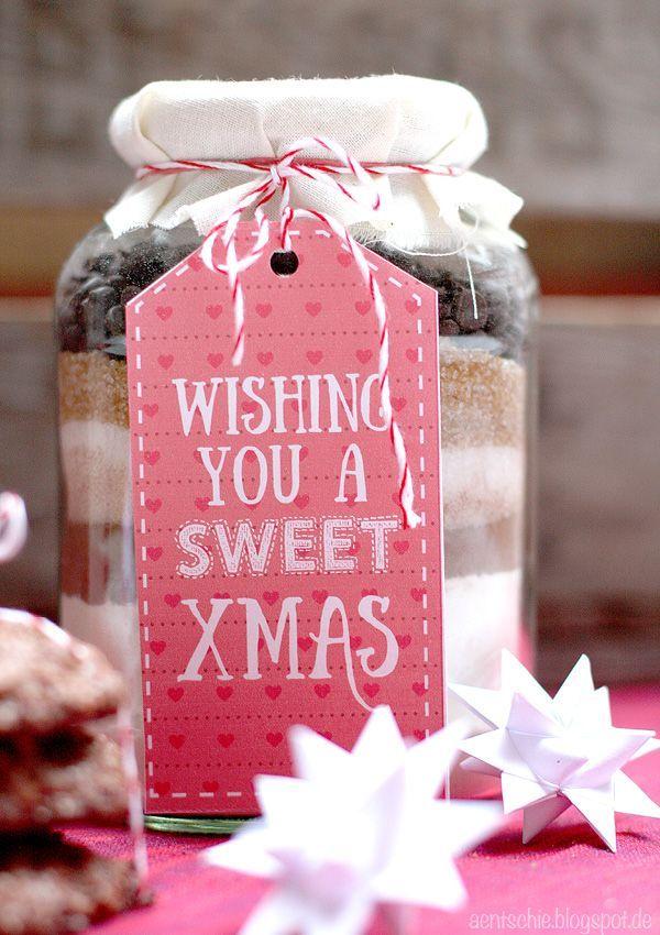 aentschies Blog: Last Minute Geschenkidee - Backmischung im Glas + Printable