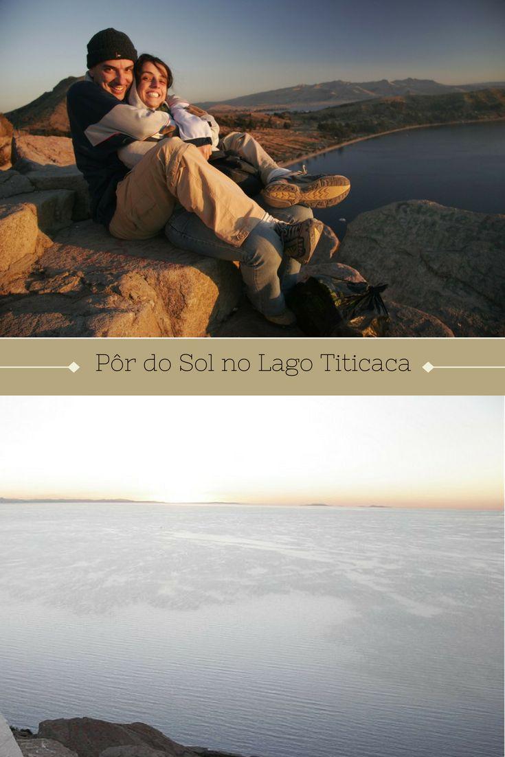 Em nossa viagem para Machu Picchu, vimos o pôr do sol no maravilhoso Lago Titicaca, compartilhado pela Bolívia e pelo Peru.