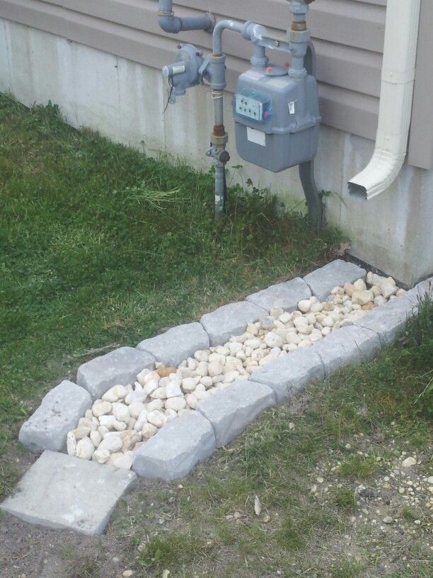 Downspout idea using those old bricks for those trouble for Downspout drain