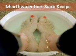 Mouthwash Foot Soak For Softer Smoother Feet