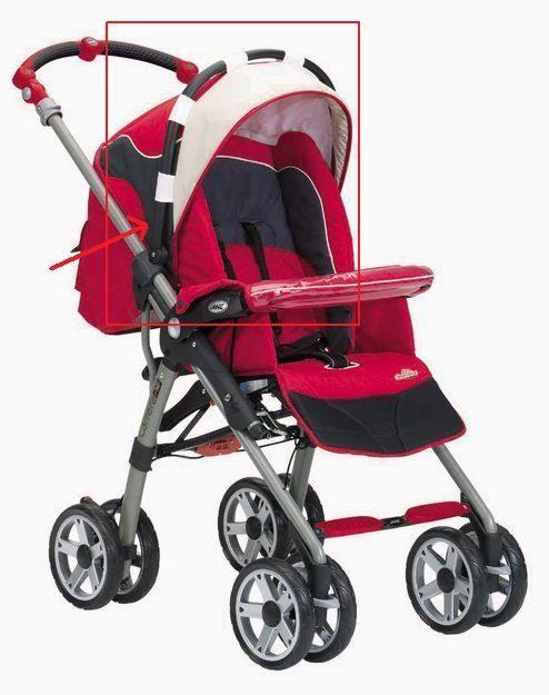 Arco para colocar la capota en las sillas Jane Carrera Pro y Solo (no compatible con otros modelos)