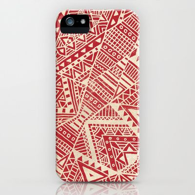 Tribal (red)  iPhone & iPod Case by Terry Fan - $35.00