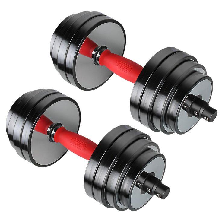 fitness gear 40 lb adjustable dumbbell set amazon