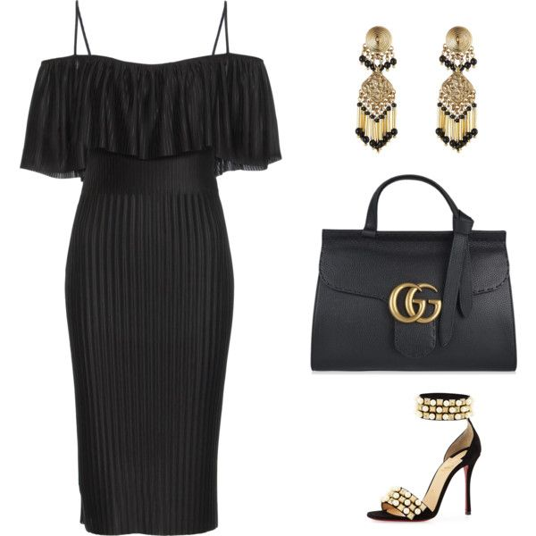 A fashion look from September 2016 by carsonneil featuring Givenchy, Christian Louboutin, Gucci and Etro