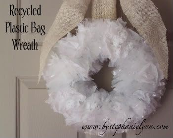 earth day projectCrafts Ideas, Plastic Bags, Grocery Bags, Bags Wreaths, Shops Bags, Christmas, Recycle Plastic, Earth Day, Winter Wreaths