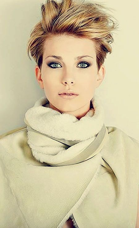 Because short hair is trending... I actually really like this one. And then of course she is kind of perfect too. ~