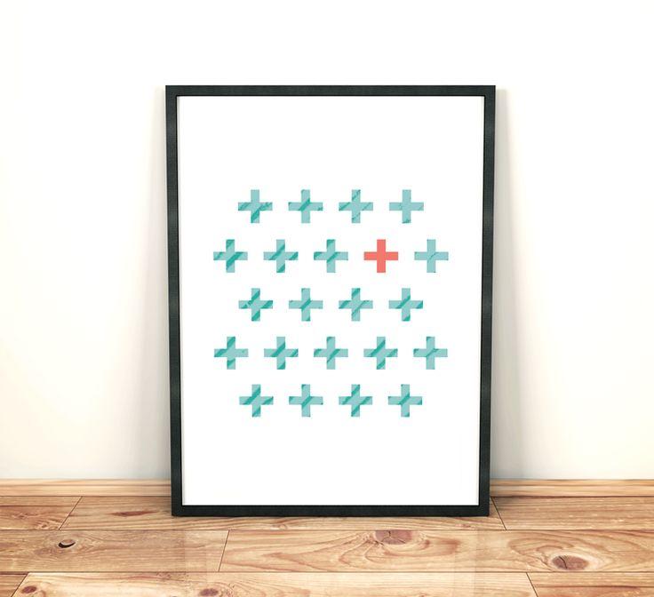 Poster Geometric A3 Print Minimalist Abstract Decor Casa ArtWork Plus