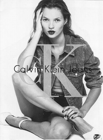 This Calvin Klein Ad campaign launched Kate Moss's career