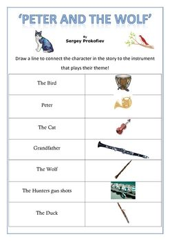 Music: 'Peter and the Wolf' activities