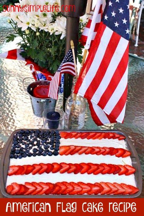 American Flag Cake Recipe, Jello poke cake