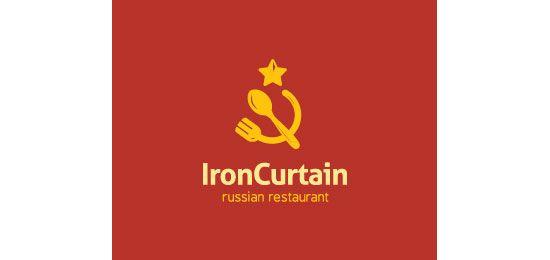 Iron Curtain Restaurant Logo Design