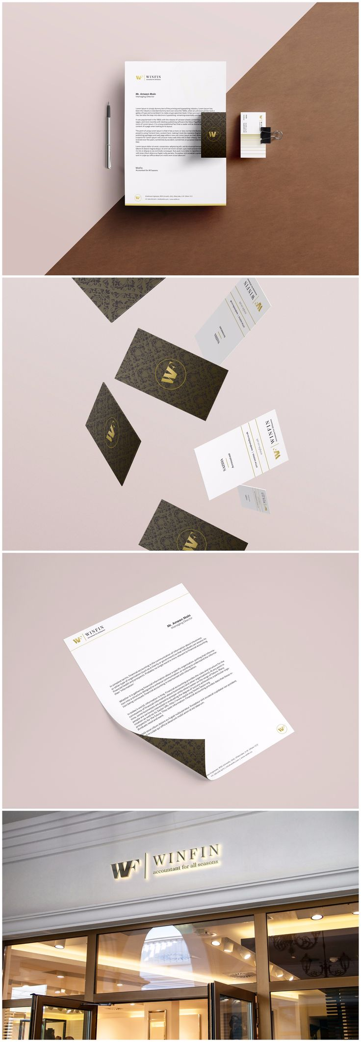 Branding For WinFin Accountant Firm WinFin is an accounting firm in Dubai. We refined their existing logo design with new branding guidelines and also designed stylish business cards for them to hand out. #design #graphicdesign #graphicdesigner #logodesign #webdesign #illustration #art via http://83oranges.com