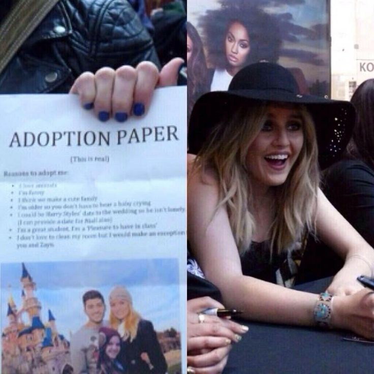 A fan gave Perrie adoption papers OMG BEST THING EVER