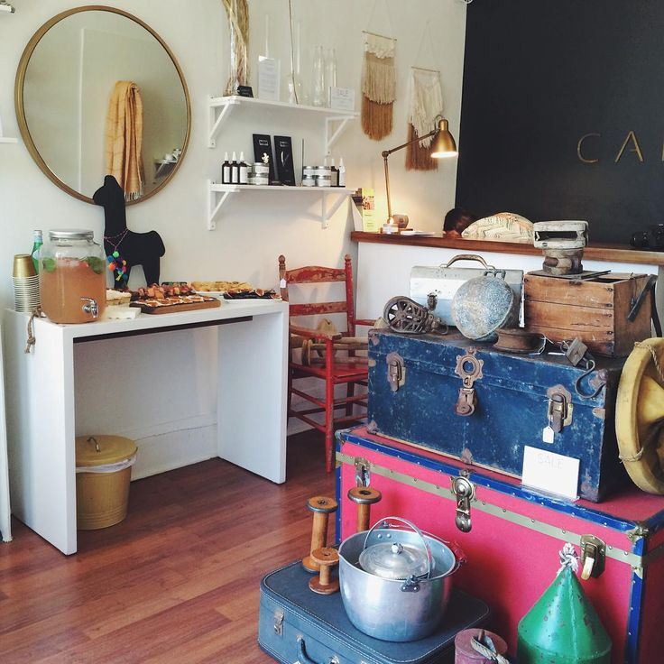 Did you know that Cambie began by picking vintage furniture on the east coast of Canada and selling at local flea markets in Toronto? Select vintage goodies (pictured) are available in our shop or via online email request. For more details on specific pieced pictured, please email <info@cambiedesign.com> #Cambie #Design #Antique #Vintage #NovaScotia #Trunk #Fishing