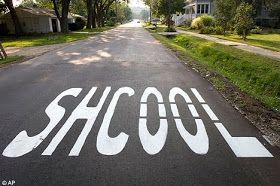 English Lessons Online, by ESOL Courses: Spelling Activity: Funny Signs - Spot The Mistakes
