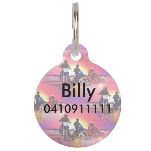 http://www.zazzle.com/gone_riding_quad_and_dirt_bikes_motocross-256754555686622321?rf=238523064604734277 Gone Riding Quad And Dirt Bikes Motocross Pet Tag - Add your pets name and your phone number to this pet tag which features three friends which have gone riding on their dirt bikes and quad bikes.