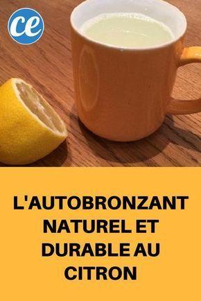 L'Autobronzant Naturel et Sturdy au Citron.