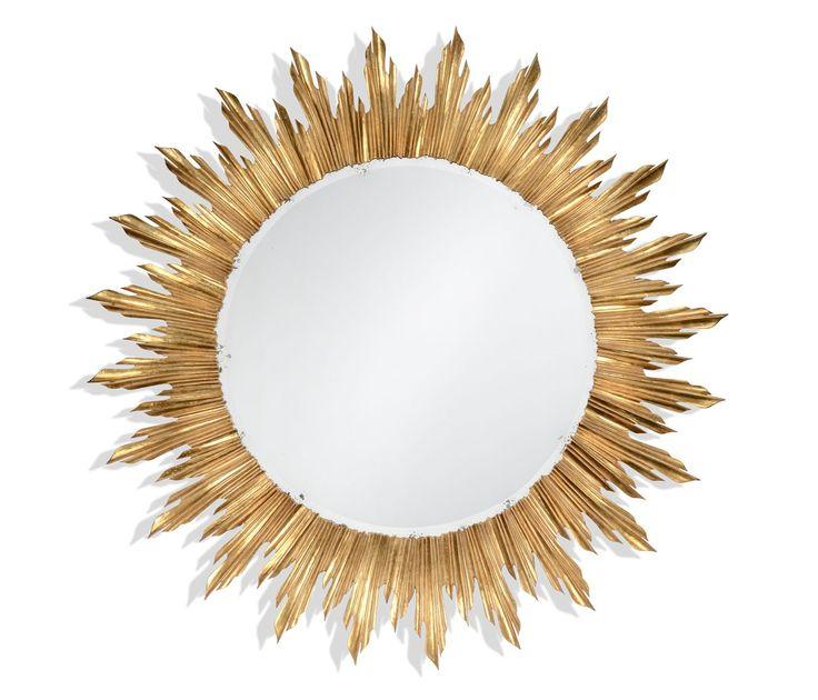 Louis Xiv Style Large Sunburst Mirror