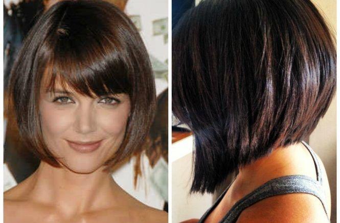 Aline Hair Styles: Medium Length Angled Bob With Bangs A Selection Of Short