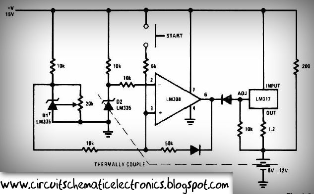 please visit electronic circuit: faster battery charger circuit 6-12 volt  with ic lm308 and lm317 for more detail information