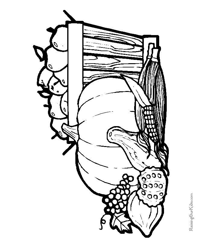 195 best 5 - thanksgiving - coloring pages images on pinterest ... - Harvest Coloring Pages Printables