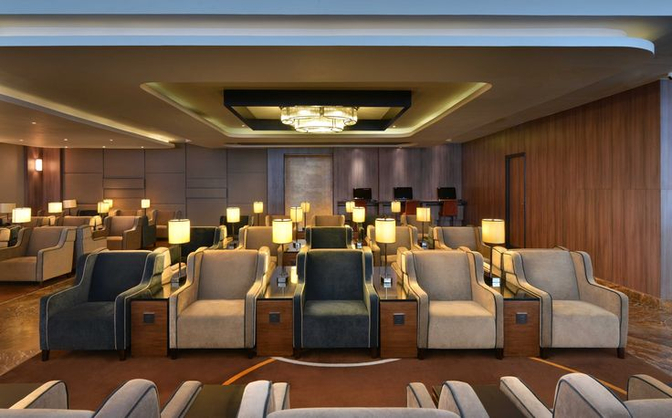 Indira Ghandi International Airport, New Delhi | Airport lounge | Contract furniture #airportlounge #contractfurniture Read more at: www.brabbu.com