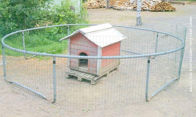 Trampoline puppy kennel -  Koiranpennulle aitaus trampoliinista