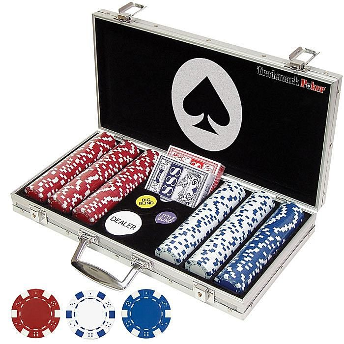 Trademark Global, Inc. 300 Dice Style 11.5 Gram Poker Chip Set