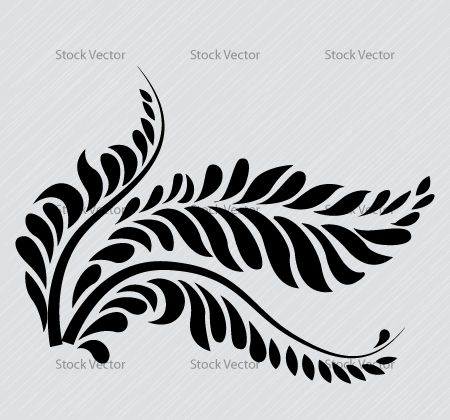 swirl ferns