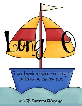 Your kids will love practicing their long o words with this pack! Includes patterns oa, ow, and o_e!Activity 1: Long O Sort with Recording Shee...