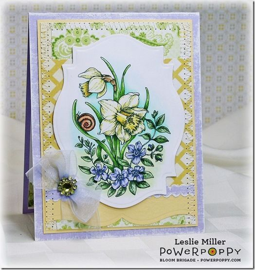 Dancing With Daffodils Digital Stamp Set by Power Poppy!