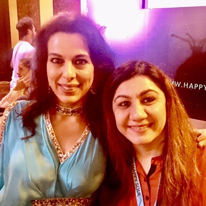 Pooja Bedi and Anu Mehta. #Pooja Bedi conducted the most peaceful #meditation which was a medication for soul at HappySouls.#metahealth