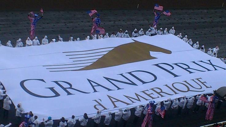la grande banderole du Prix d'Amérique