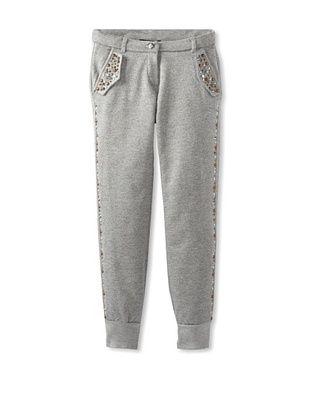 56% OFF Monnalisa Girl's Studded Sweatpants (Medium Gray)